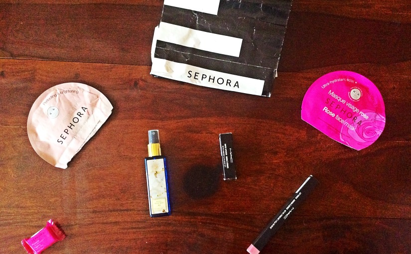 My beauty haul at Sephora